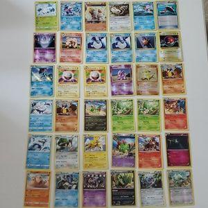 Lot of 36 Rare/Shiny/Reverse Holo Pokemon Cards